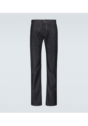 Contrast-stitched jeans