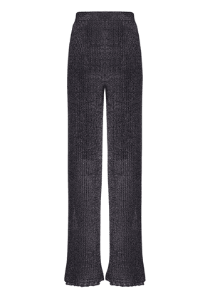 Flared Knit Lurex Pants