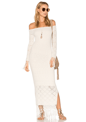 House of Harlow 1960 X REVOLVE Rose Dress in White. Size M.