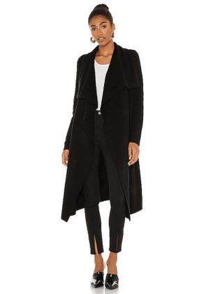 525 Belted Wrap Cardigan in Black. Size XS, S, M.