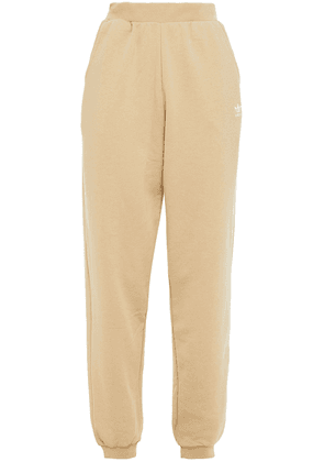 Adidas Originals French Cotton-blend Terry Track Pants Woman Beige Size 48