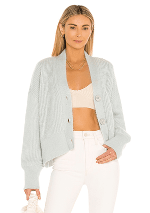 ANINE BING Maxwell Cardigan in Baby Blue. Size L.