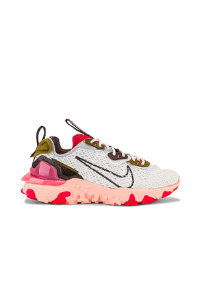 Nike NSW React Vision Sneaker in White. Size 9.5.