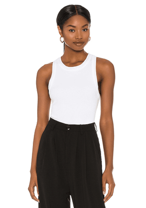 Citizens of Humanity Isabel Rib Tank in White. Size XS.