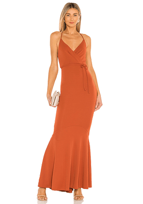 Michael Costello x REVOLVE Genevieve Maxi Dress in Rust. Size XS, M.