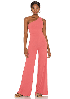 Lovers + Friends Charli Jumpsuit in Rose. Size S, M, L, XL.