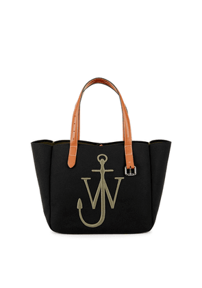 JW Anderson Black Logo-embroidered Canvas Tote