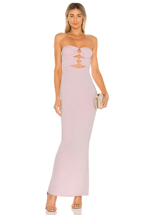 Michael Costello x REVOLVE Rylee Maxi Dress in Pink. Size XS, S, M, L, XL.