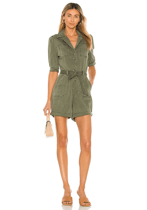PAIGE Mayslie Romper in Army. Size 2, 4, 6, 8.