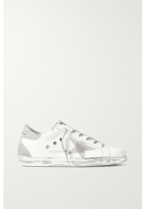 Golden Goose - Superstar Distressed Suede And Leather-trimmed Canvas Sneakers - Off-white