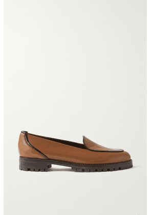 Manolo Blahnik - Foco Leather Loafers - Light brown