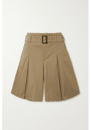 Purdey - Belted Stretch-cotton Twill Shorts - Tan