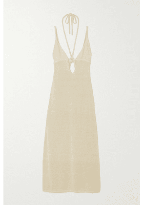 Cult Gaia - Kingsley Open-back Linen-blend Maxi Dress - White