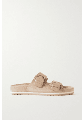 Vince - Glyn Leather And Suede Slides - Beige