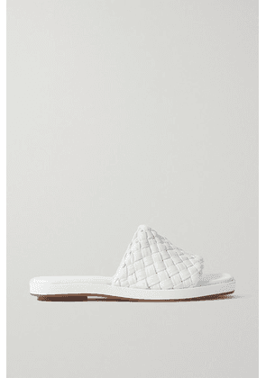 Vince - Rumi Woven Leather Slides - Ivory