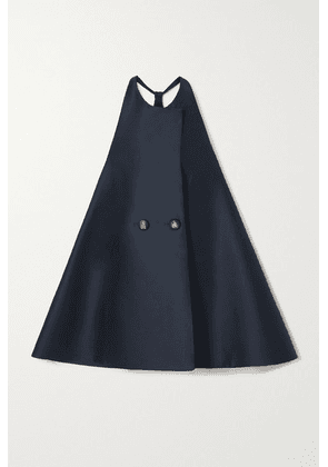 Lanvin - Double-breasted Wool And Silk-blend Mini Dress - Blue