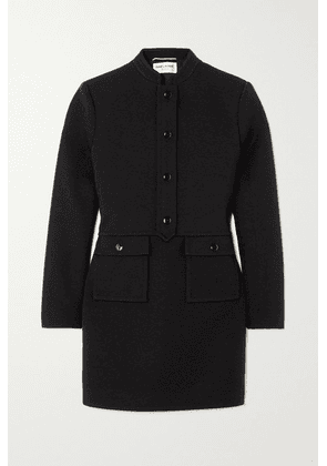 SAINT LAURENT - Wool-blend Jersey Mini Dress - Black