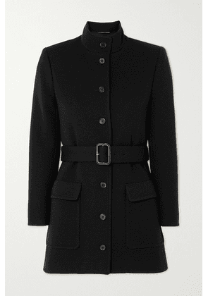 SAINT LAURENT - Belted Wool-blend Jersey Jacket - Black