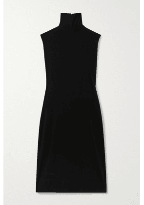 Norma Kamali - Stretch-jersey Turtleneck Dress - Black