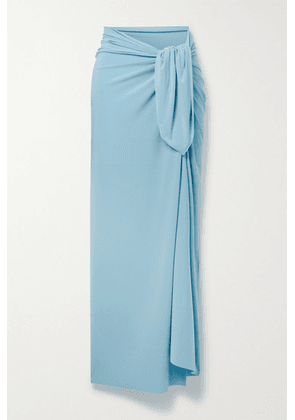 Norma Kamali - Ernie Stretch-jersey Pareo - Light blue