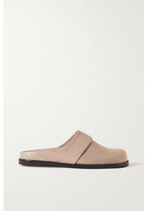 Porte & Paire - + Frankie Shop Leather Slippers - Tan