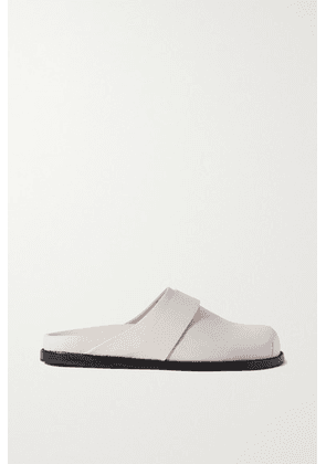 Porte & Paire - + Frankie Shop Leather Slippers - Off-white