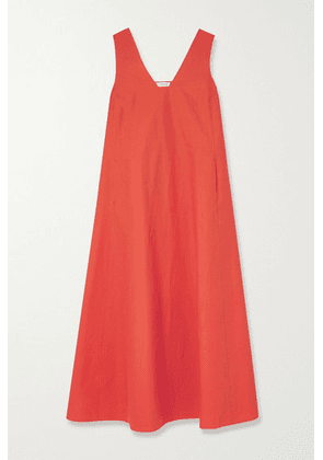Lafayette 148 - Harper Cotton-poplin Dress - Bright orange