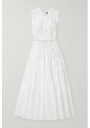 Proenza Schouler - Gathered Tiered Cotton-poplin Dress - White