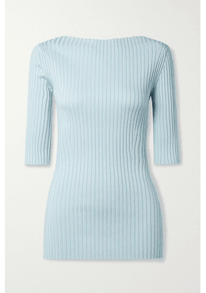 Proenza Schouler - Ribbed-knit Top - Sky blue