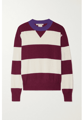 Paradis Perdus - + Net Sustain Claude Striped Recycled Knitted Sweater - Burgundy
