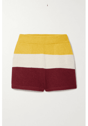 Paradis Perdus - + Net Sustain Jasper Striped Recycled Knitted Shorts - Mustard