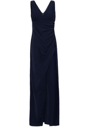 Ml Monique Lhuillier Gathered Crepe Gown Woman Navy Size 8