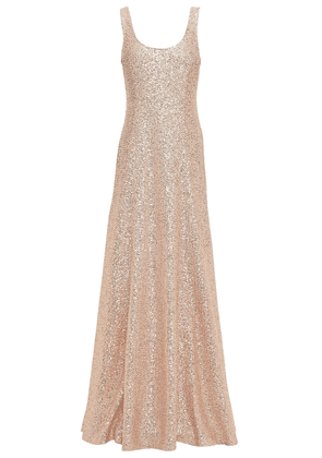 St. John Sequined Knitted Gown Woman Rose Gold Size 2