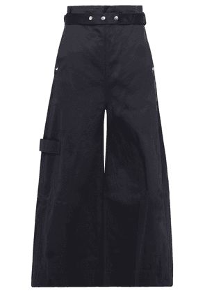 Reebok X Victoria Beckham Reebok X Victoria Beckham Belted Cotton-twill Wide-leg Pants Woman Midnight blue Size 32
