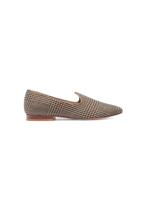 Giuliva Heritage Collection + Le Monde Beryl Venetian Prince Of Wales Checked Slippers Woman Brown Size 36