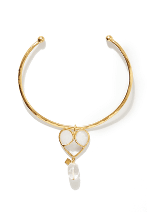 Loulou De La Falaise Gold-plated, Glass And Crystal Choker Woman Gold Size --