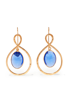 Loulou De La Falaise Gold-plated And Glass Earrings Woman Blue Size --