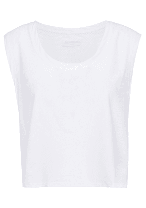 Lanston Sport Cropped Mesh And Stretch Tank Woman White Size S