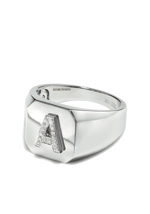SHAY diamond Pave Initial ring - Silver