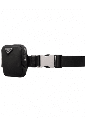 Prada logo-plaque belt - Black