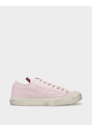Acne Studios Ballow Tumbled W Sneakers in Pink Canvas