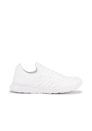 APL: Athletic Propulsion Labs TechLoom Wave Sneaker in White. Size 6.5, 8.5.