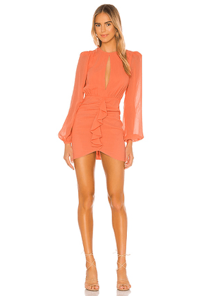 NBD Arijana Mini Dress in Coral. Size S.