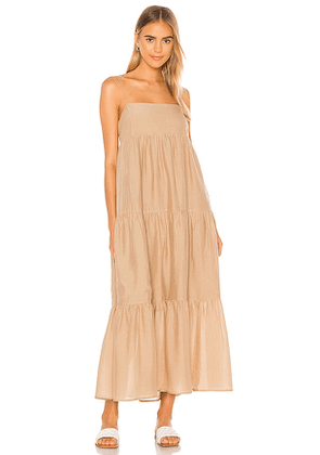 L'Academie The Kiyama Maxi Dress in Tan. Size XL.
