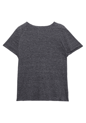 Enza Costa Striped Cotton-jersey T-shirt Woman Anthracite Size L