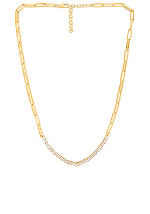 Luv AJ Ballier Chain Link Necklace in Metallic Gold.
