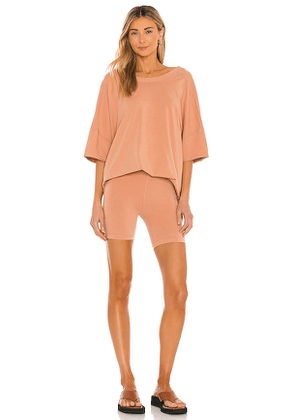 Free People X FP Movement Hot Shot Set in Tan. Size XS.