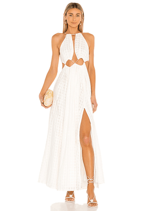 Cult Gaia Thera Dress in White. Size S.