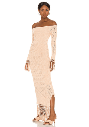 House of Harlow 1960 x Sofia Richie Rose Dress in Nude. Size M, L, XL.