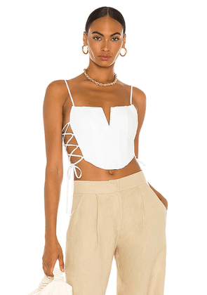 NBD Katerina Bustier Top in White. Size M, L.